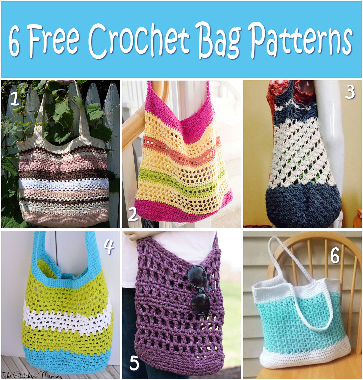 6 Free Crochet Bag Patterns |