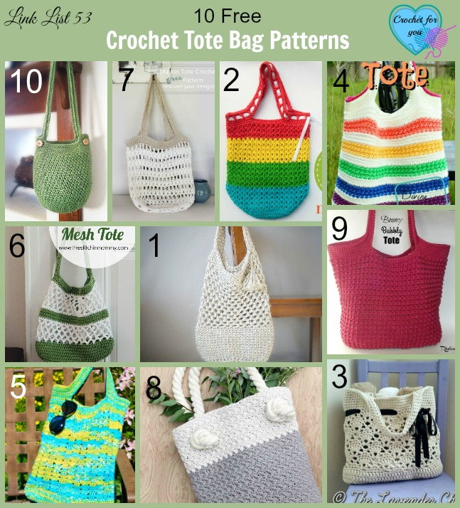 10 Free Crochet Tote Bag Patterns - Crochet For You