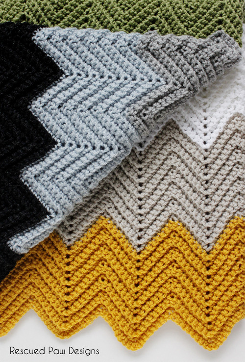 Chevron Crochet Blanket Pattern - Chevron Crochet Baby Blanket Sizes