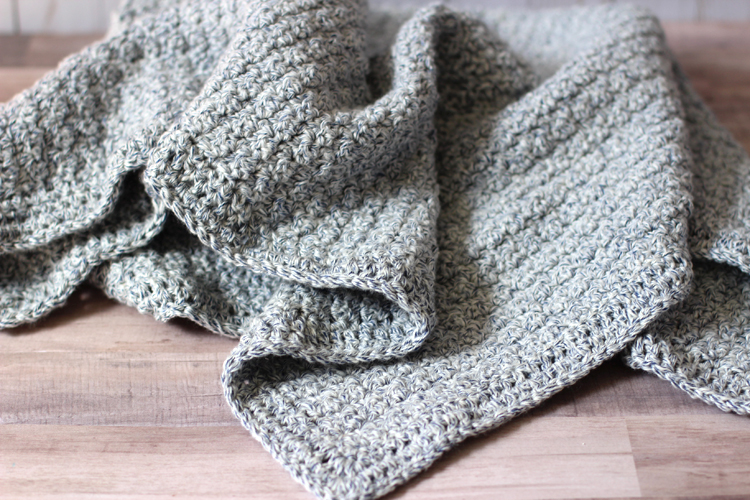 The Hudson Crochet Baby Blanket Pattern - thecraftpatchblog.com