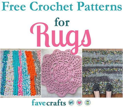18 Free Crochet Patterns for Rugs | FaveCrafts.com
