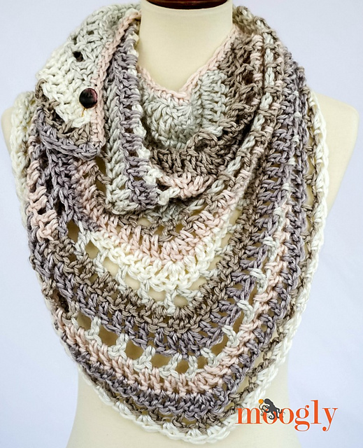 10 free patterns for crochet triangle shawls - free pattern roundup