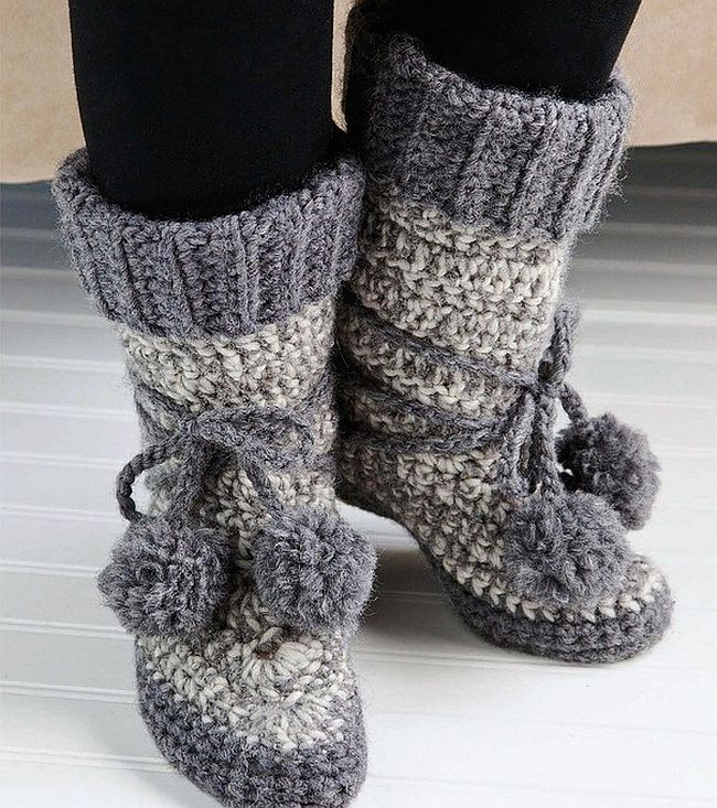 Keep Your Feet Warm with These Stylish Free Crochet Slipper Patterns