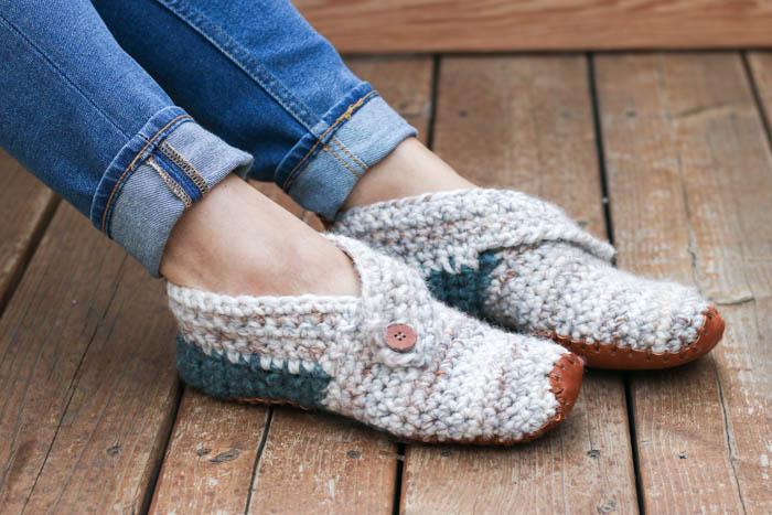 Stylish + Modern: Free Crochet Slippers Pattern for Women