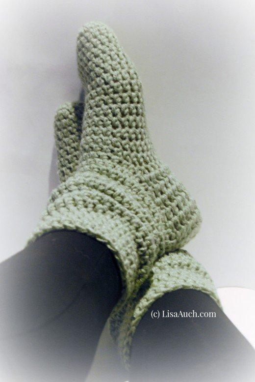 Free Crochet Socks & Easy Crochet Slipper Patterns Ideal for