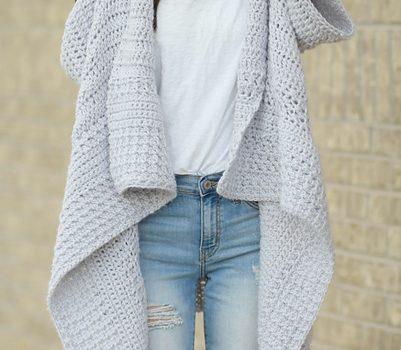 Free Pattern] Easy, Breezy Cascading Kimono Cardigan Crochet Pattern