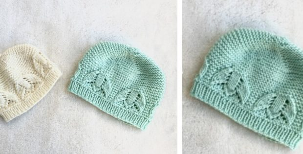 Liliana Knitted Lace Baby Hat [FREE Knitting Pattern]