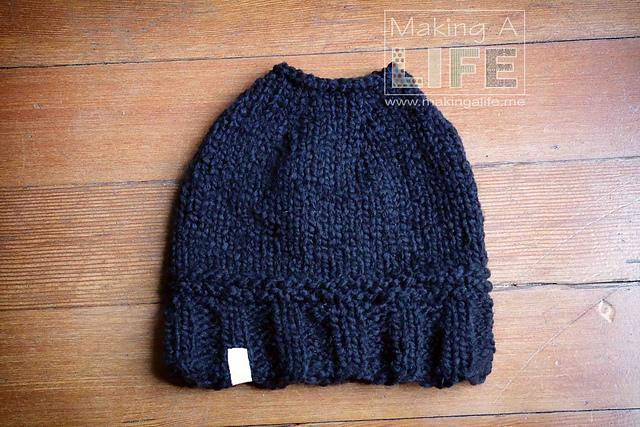 Knitting Patterns Galore - Messy Bun Hat