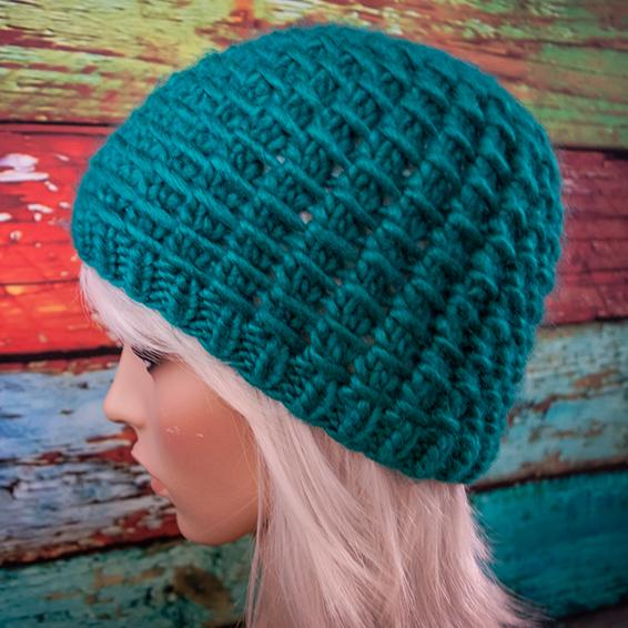 Free Knitting Pattern: Winter Waffle Hat - Jenn Likes Yarn