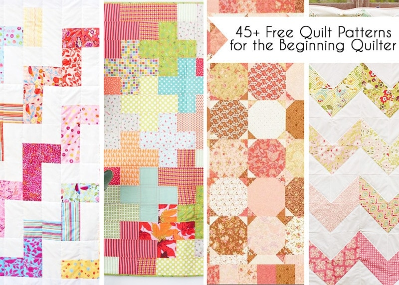 45 Free Easy Quilt Patterns - Perfect for Beginners - Scattered