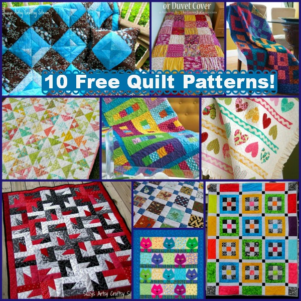 10 Free Quilt Patterns with Summer Color!