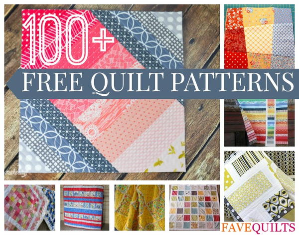 100+ Free Quilt Patterns For Your Home | FaveQuilts.com
