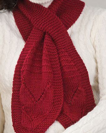 Free Knitting Pattern for Beginner Keyhole Scarf - This beginner