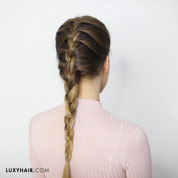 How To Do A French Braid: Hair Tutorials for Beginners u2013 Luxy Hair