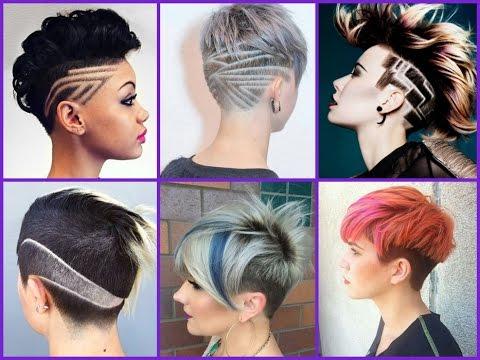 25 Cute Undercut For Girls - Trendy Haircuts 2018 - YouTube