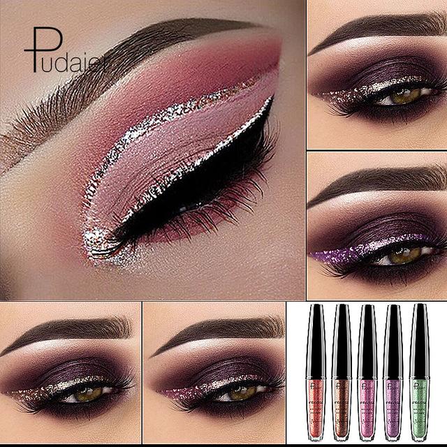 2018 Liquid 16 Colors Shimmer Eyeliner Gel Waterproof Long Lasting