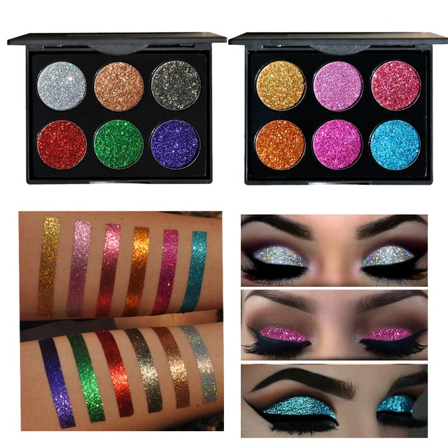 2017 Professional Eyeshadow Palette Glitter Makeup Waterproof