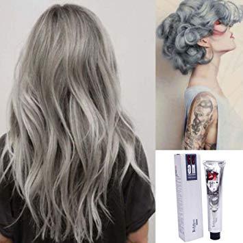 Amazon.com : Hunputa Popular Punk Silver Grey Permanent Hair Color