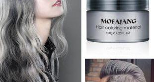 Buy Mofajang Dye Unisex Grey Hair Color Mud Wax Molding Silver Gray