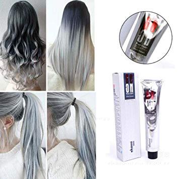Amazon.com: Silver Grey Hair Cream, Ragdoll50 Smoky Gray Punk Style