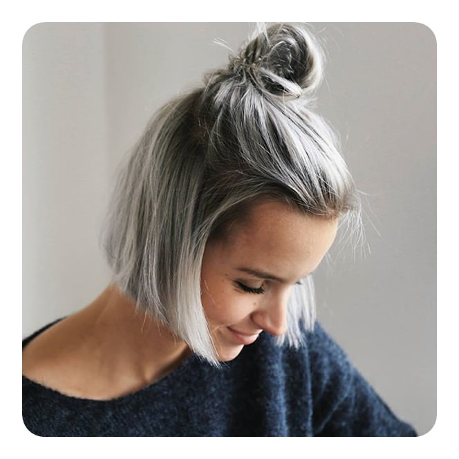104 Long And Short Grey Hairstyles 2019 - Style Easily