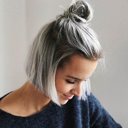 Look beautiful and elegant even with grey   hair styles
