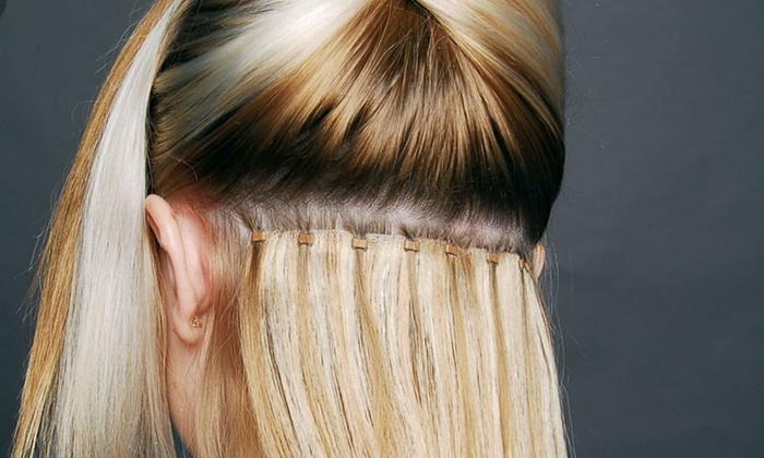 Micro Bead Hair Extensions - Stella & Shay Beauty Bar | Groupon