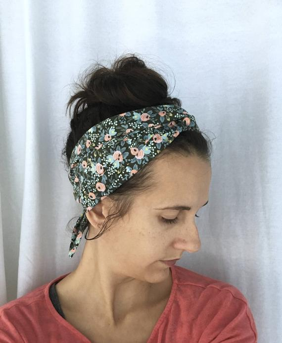 Rifle Paper Co Headband Womens floral headband hair scarf | Etsy