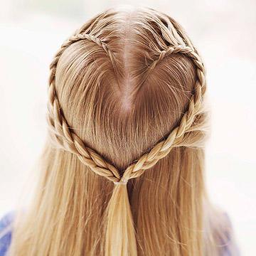 Heart Braid and Ballerina Bun Hairstyles for Girls -- Cozy Friedman