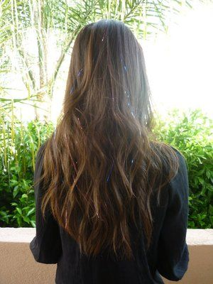 i want hair tinsel!! so cute and sparkly!(: | I Love My Hair