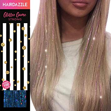 Amazon.com : Hair Dazzle Holographic Hair Tinsel Set - Ultimate