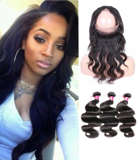 3 Bundles Brazilian Virgin Body Wave Hair Weave With Pre-Plucked