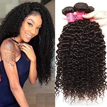 Amazon.com: Klaiyi Hair 10A Brazilian Curly Hair Weave 3 Bundles 8