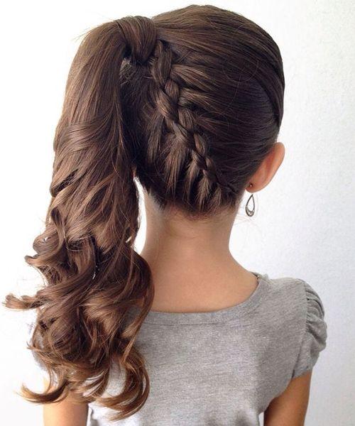 20+ Fancy Little Girl Braids Hairstyle | Hair Styles | Pinterest