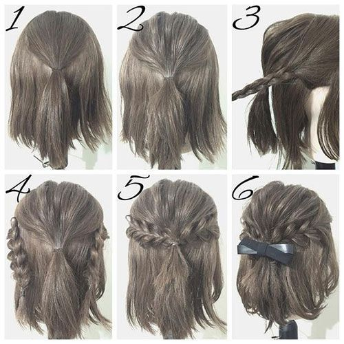 Half Up Hairstyle Tutorials for Short Hair, Hacks, Tutorials | DIY