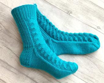 Hand knit socks | Etsy