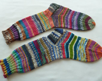 Varieties of hand knitted stockings at   knockdown prices!