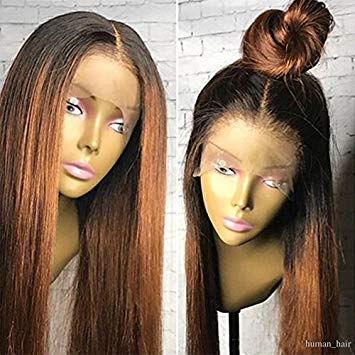 Amazon.com : Human Hair Straight full lace wig 100% Real Brazilian