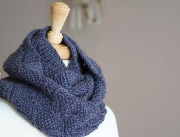 Finial Reversible Cowl/Infinity Scarf - Knitting Patterns and