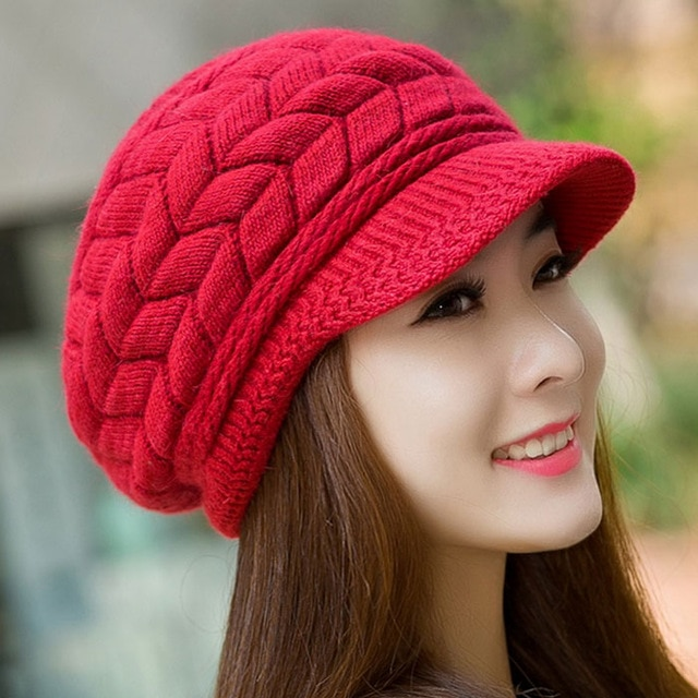 Women Winter hat Ladies Warm Knit Crochet Slouch Baggy Beanie Female