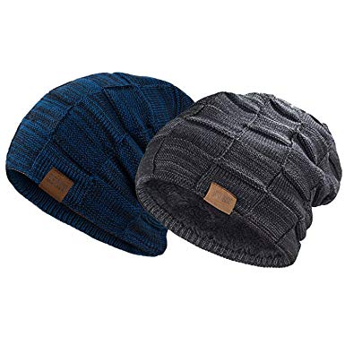 REDESS Beanie Hat for Men and Women Winter Warm Hats Knit Slouchy