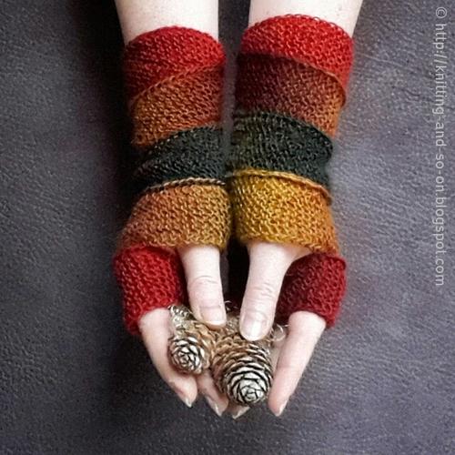 Helix Fingerless Gloves Knitting Pattern | FaveCrafts.com