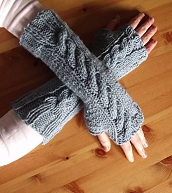7 Fingerless Gloves Knitting Patterns : How To Knit Fingerless