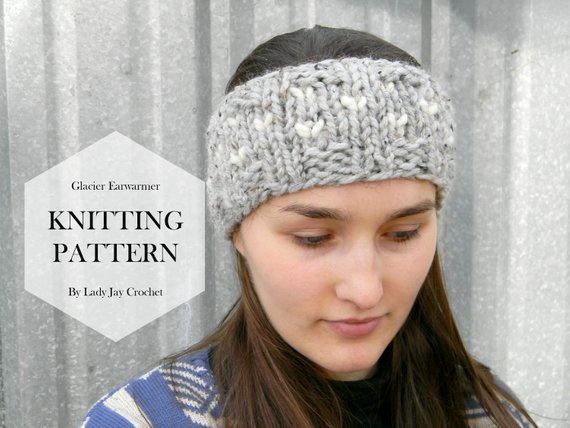PATTERN: Glacier Earwarmer Fair isle design knit headband | Etsy