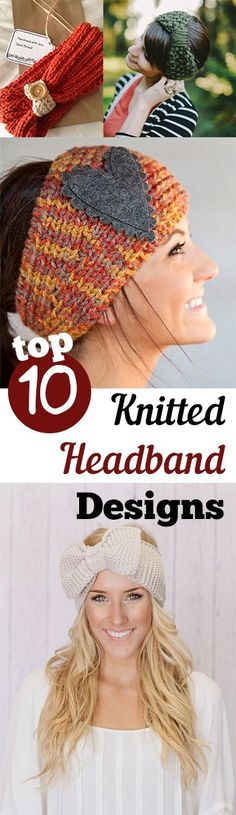 109 Best Knitted headband images in 2019 | Free knitting, Yarns