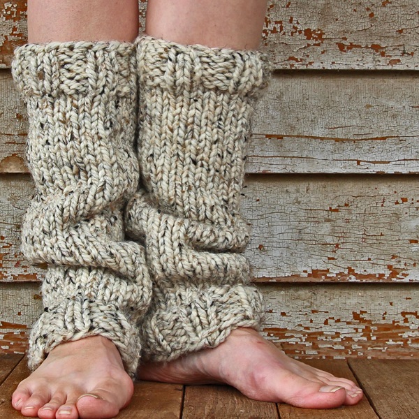 STRENGTH : Women's Leg Warmer Knitting Pattern - Brome Fields