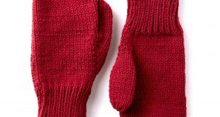 Caron Basic Family Knit Mittens   Yarnspirations