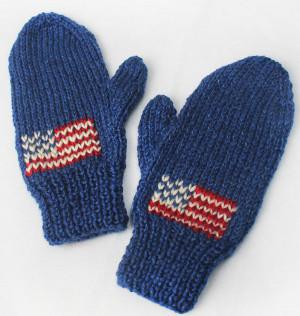Team USA Knit Mittens | AllFreeKnitting.com