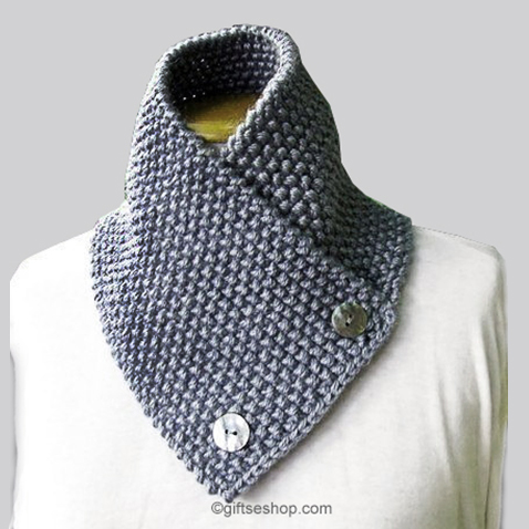 Knitting Pattern Scarf Neck Warmer- Knit Men's Scarf Pattern for