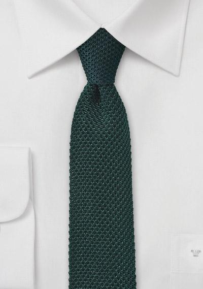 Slim Knit Tie in Ivy Green | Bows-N-Ties.com